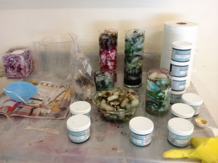 glass ice dyeing containers