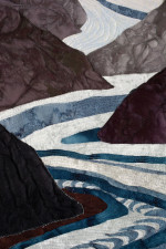 Detail of Glacial Flow art quilt